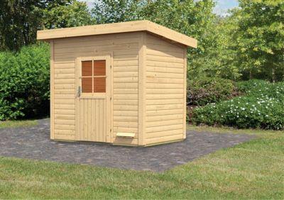 Karibu Saunahaus Nikkala, inkl. Sauna-Zubehör-Set PLUS | Baumarkt > Bad und Sanitär > Sauna und Zubehör | Fichte | Karibu