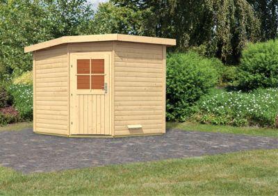 Karibu Saunahaus Dalih, inkl. Sauna-Zubehör-Set PLUS | Baumarkt > Bad und Sanitär > Sauna und Zubehör | Fichte | Karibu