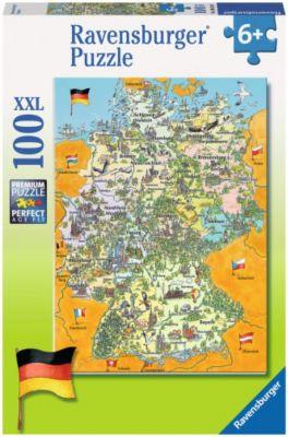 Bunte Deutschlandkarte