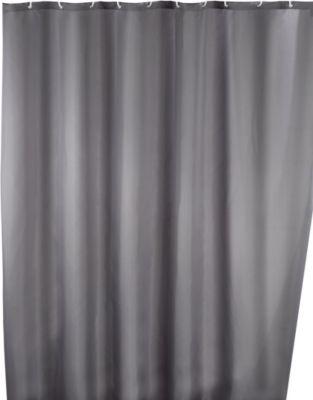 Anti-Schimmel Duschvorhang Uni Grey 180 x 200 c...