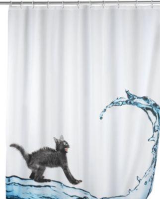 Anti-Schimmel Duschvorhang Cat 180 x 200 cm, wa...