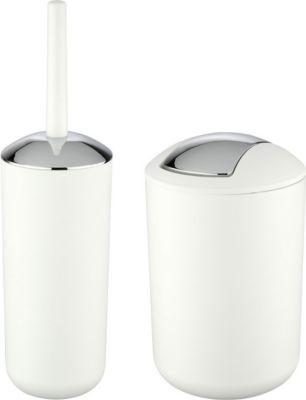 WC-Garnitur und Kosmetikeimer Brasil Weiß