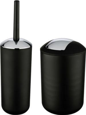 WC-Garnitur und Kosmetikeimer Brasil Schwarz