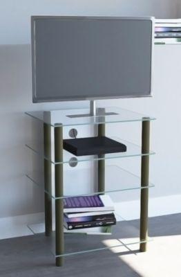 Hifi-Möbel ´´Bilus Messing´´ | Rack Regal Tisch Alu / Glas