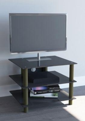 TV-Möbel ´´Sindas Messing Gold Farben´´ | Fernseh Rack, Tisch Alu Glas