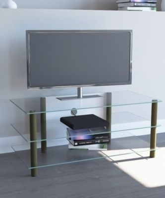 TV-Möbel ´´Zumbo Messing Gold Farben´´ | Rack Tisch Alu Glas