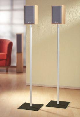 VCM 2x Surroundstand ´´Sulivo Maxi´´   Boxenstand Ständer Alu / Glas