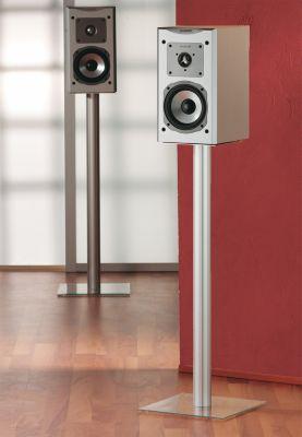 VCM 2x Lautsprecherstand ´´Boxero Mini´´ | Boxenstand Ständer Alu / Glas