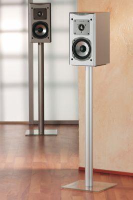 VCM 2x Lautsprecherstand ´´Boxero Maxi´´ | Boxenstand Ständer Alu / Glas