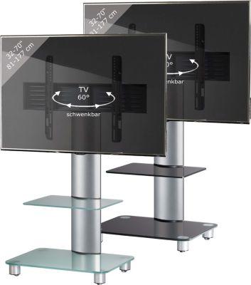 VCM TV-Standfuß ´´Tosal Silber mit Zwischenboden´´   Rack, Ständer aus Alu Glas   Wohnzimmer > TV-HiFi-Möbel > Ständer & Standfüße   Aluminium - Sicherheitsglas   VCM