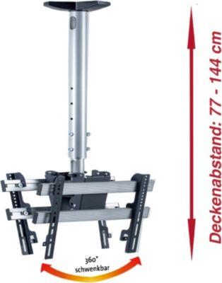Universelle Decken-Halterung ´´TDH3 Double´´ | Höhenverstellbar von 77 -144 cm | Für LED, LCD, Plasma