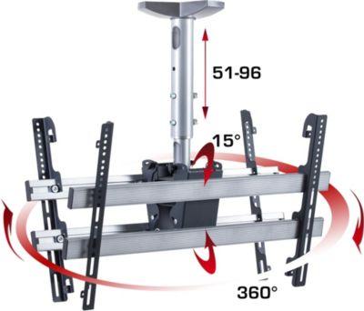 VCM Universelle Decken-Halterung ´´TDH4 Mini Double´´   Höhenverstellbar von 51-96 cm   Für LED, LCD, Plasma