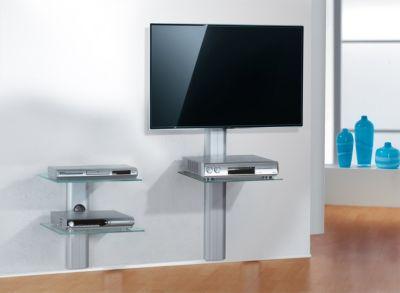 VCM Trägersystem ´´Trento1 Silber´´   Hifi-Halterung für Receiver, DVD-Player