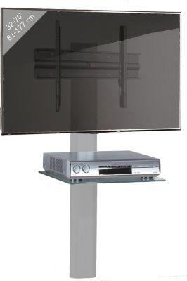 Vcm hifi tv wandhalterung trento tv silber schwarzglas halterung tr ger receiver player - Wandhalterung tv und receiver ...