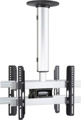 Universelle Duo TV-Deckenhalterung 26-40 Zoll (66-101 cm) Deckenhalter neigar schwenkbar höhenverstellbar 127-238 ´´CM3 Mini Double´´ für Doppelt Zwei LED LCD Plasma Fernseh Befestigung