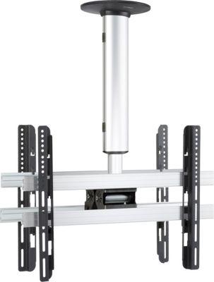 Universelle Duo TV-Deckenhalterung 42-65 Zoll (106-165 cm) Deckenhalter neigar schwenkbar höhenverstellbar 50-84 cm ´´CM4 Mini Double´´ für Zwei Doppelt LED LCD Plasma Fernseh Befestigung