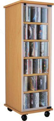 CD / DVD Möbel ´´Valenza´´ | drehbar mobil Regal in 3 Farben