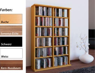 CD / DVD Möbel ´´Ronul´´ | Schrank / Regal ohne Glastür in 7 Farben