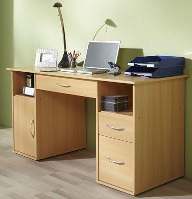 Schreibtisch PC-Fach ´´Tallinn´´ Buche | Schubladen Computertisch