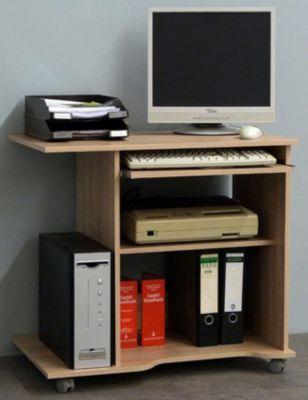 Computertisch ´´Officano´´ Buche | PC Schreibtisch mit Rollen