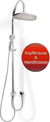 Duschset Duschsystem Set Duschkopf Handbrause Schlauch Duschstange Malaga