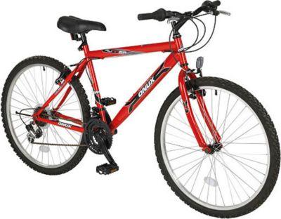 ONUX Mountainbike 26 Zoll / 46 cm Rahmen / 18 Gänge Shimano / Herren / Rot / Alu-V-Brake