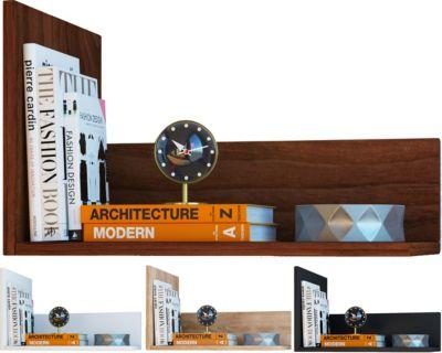 VCM Wandregal Regal Hängeregal Wandboard Regal Hängeboard Bücherregal Holz  ´´Blisa´´