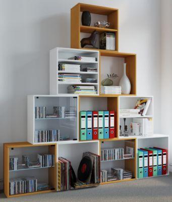 VCM Regal Würfel Quadratisch Wandregal Bücher Schrank CDs Holz Aufbewahrung ´´Quattro´´ | Wohnzimmer > Regale > Regalwürfel | Nachbildung | VCM