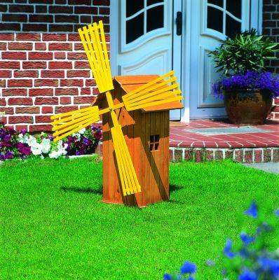 Promadino Windmühle ´´Apeldoorn´´ 85 cm, impräg. | Garten > Dekoration > Windmühlen | Honigbraun | Kiefernholz | Promadino