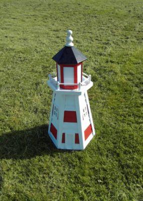 Leuchtturm ´´Norderney´´ klein, weiß/rot