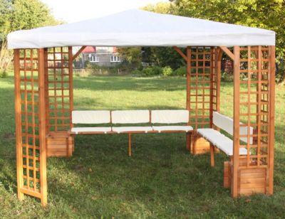 Promadino Sitz- /Rückenauflagen für Pavillon Mindelheim´´ beige´´ | Garten > Pavillons | Beige | Baumwolle | Promadino