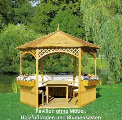 Promadino Pavillon Palma mit Holzdach