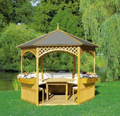 Promadino Pavillon ´´Palma´´ mit Dachpappe, Set kompl | Garten > Pavillons | Promadino
