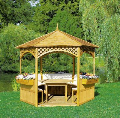 Promadino Pavillon Palma´´ Holzdach, Set komplett´´ | Garten > Pavillons | Promadino