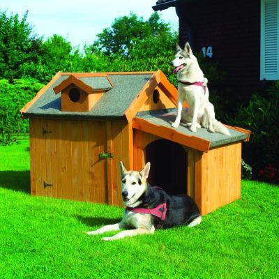 Promadino Hundehütte ´´Max´´ mit Anbau promadino