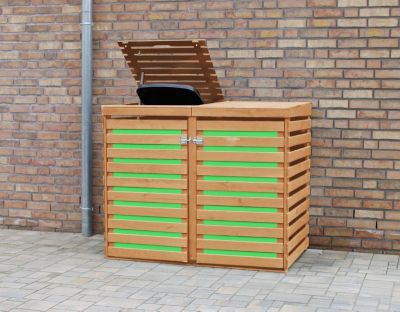 COLOR YOUR OWN COLOUR YOUR OWN Mülltonnendoppelbox CYO K:honigbraun/PVC:grün