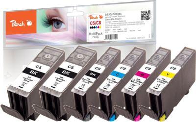 Peach Spar Pack Plus Tintenpatronen kompatibel zu Canon CLI-8, 2x bei Plus Online Shop