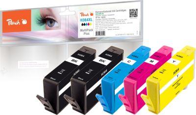 Peach Spar Pack Plus Tintenpatronen kompatibel zu HP No. 364