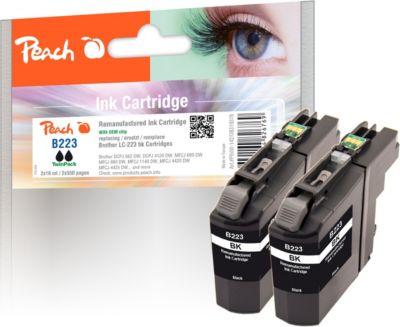 peach-doppelpack-tintenpatrone-schwarz-kompatibel-zu-brother-lc-223bk-wiederaufbereitet-