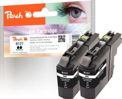 peach-doppelpack-tintenpatronen-schwarz-kompatibel-zu-brother-lc-121bk-wiederaufbereitet-