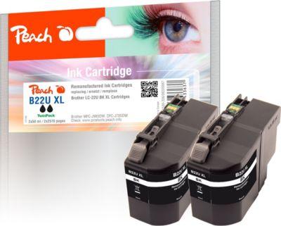 peach-doppelpack-tintenpatronen-xl-schwarz-kompatibel-zu-brother-lc-22uxl-bk-2-wiederaufbereitet-