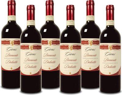 6 Fl. Givas Dolcetto Piemonte DOC Rotwein Italien 2016