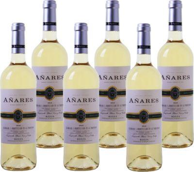 6 Fl. Añares Tres Cepas Rioja DOCa Blanco Weißwein Spanien 2016