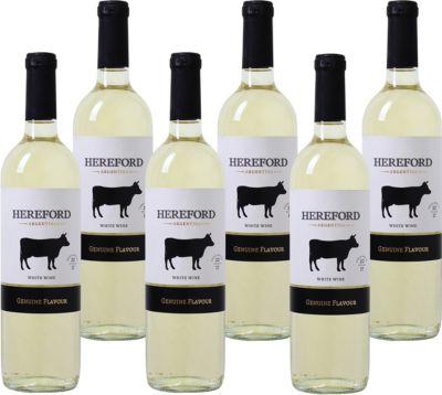 6 Fl. Hereford White Mendoza Valley Weißwein Ar...