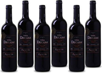 6 Fl. Viña Decana Reserva Utiel Requena DO Rotwein Spanien 2012