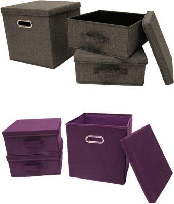 aufbewahrungsbox stoff preisvergleich die besten. Black Bedroom Furniture Sets. Home Design Ideas