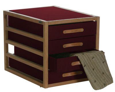 Artra Container Ordnungsboxen Bordeaux Ledergriffe