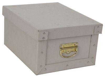 Deko-Karton M Bauli Ordnungsboxen Baumwolle grau für Haushalt Büro Wäsche Geschenkbox Dekokarton Sammelbox Mehrzweckbox Ordnungskarton Ordnungsbox Geschenkekarton