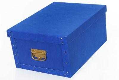 Deko-Karton Ordnungsboxen Bauli Airtex blau Aufbewahrungsbox für Haushalt Büro Wäsche Geschenkbox Dekokarton Sammelbox Mehrzweckbox Ordnungskarton Ordnungsbox Geschenkekarton