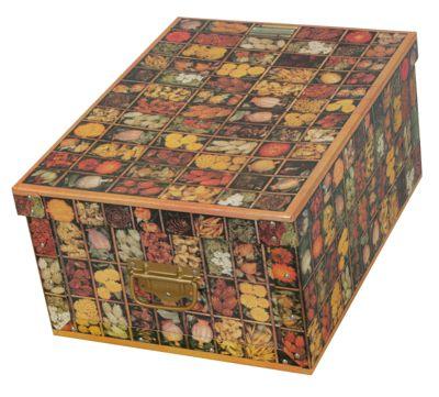 Deko-Karton Bauli Ordnungsbox (Old Flower) Aufbewahrungsbox für Haushalt Büro Wäsche Geschenkbox Dekokarton Sammelbox Mehrzweckbox Ordnungskarton Ordnungsbox Geschenkekarton